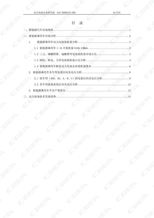 2017中国新能源乘用车市场月报(10月刊)