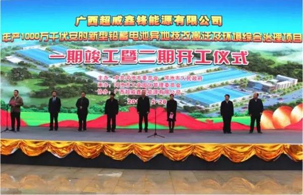 超威打造中国西南最大蓄电池循环产业园