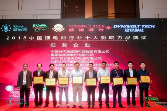 猛狮科技荣获2018中国锂电行业两项大奖