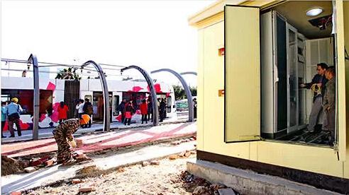 揭秘广州超级电容储能式有轨电车:停站25秒完成充电